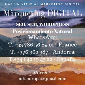 Haz un viaje al Marketing Digital SEO SEM WORDPRESS y Posicionamiento Natural de webs en Wordpress1